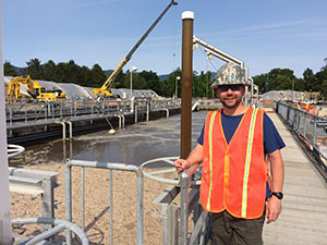 Lucas Berry at wastewater Treatment Plant