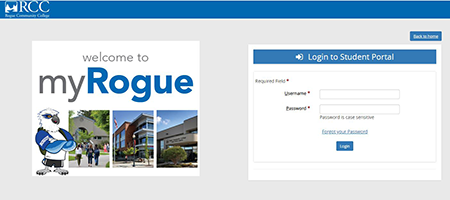 login to myRogue