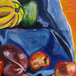 still life with fruits and vegetables painting