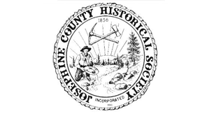 Josephine County Historical Society seal with a gold miner