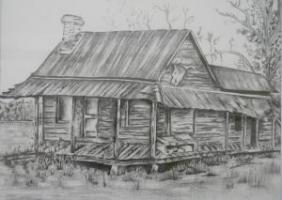 LS drawing of house