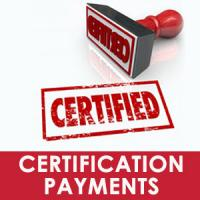 Certification payment request